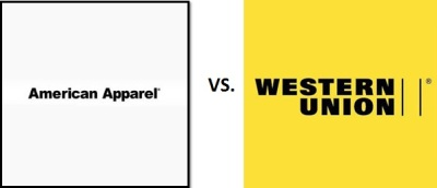 American Apparel vs. Western Union